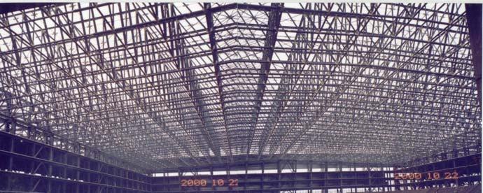 悬臂桁架为h型钢组合空间结构