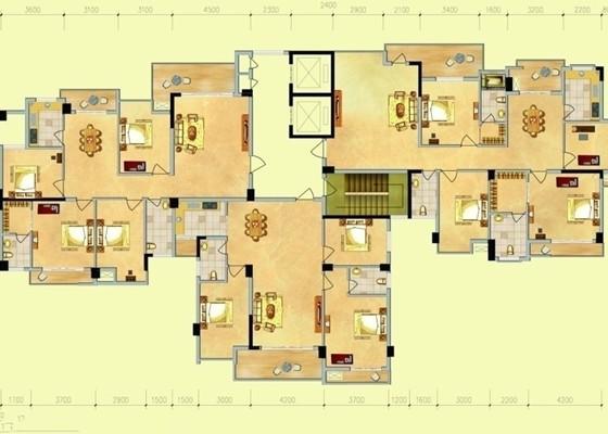 居民楼房电路布线图